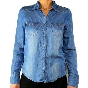 Love Culture Button Up Denim Shirt Size Small
